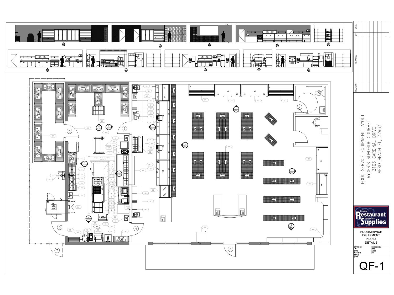 Floor Plans Commercial Kitchen Food Market