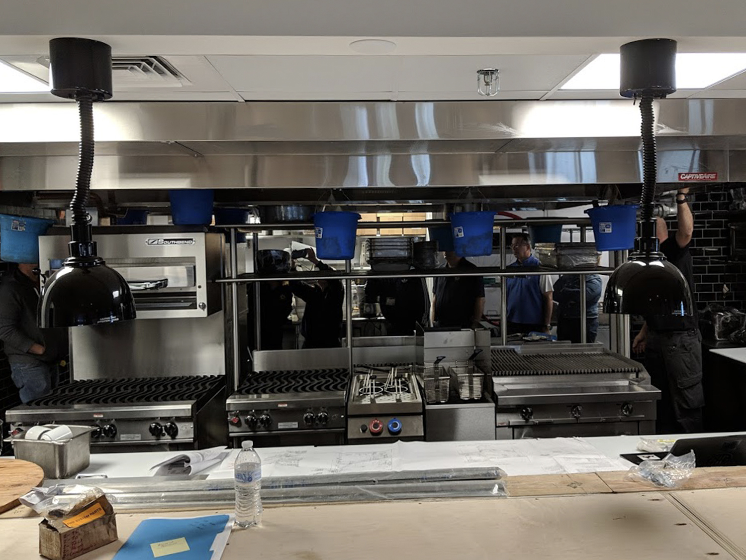 Heat Lamps Griddle Grill Commercial Kitchen