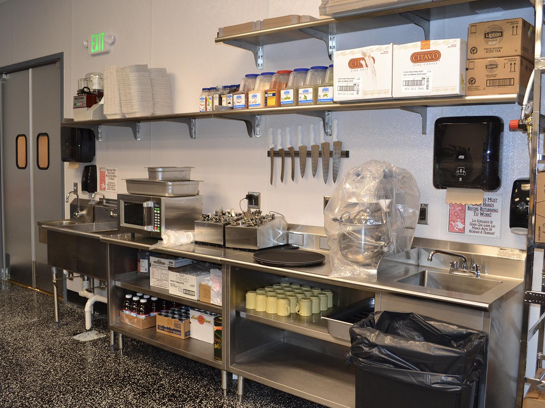 food prep station stainless steel